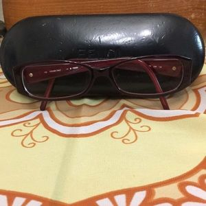 fe1739cf223 Fendi Eggplant Prescription Eyeglasses